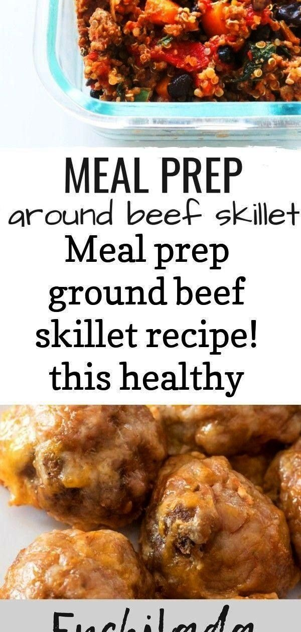 prep ground beef skillet recipe! this healthy dinner recipe with ground beef, quinoa and bean 8 - R