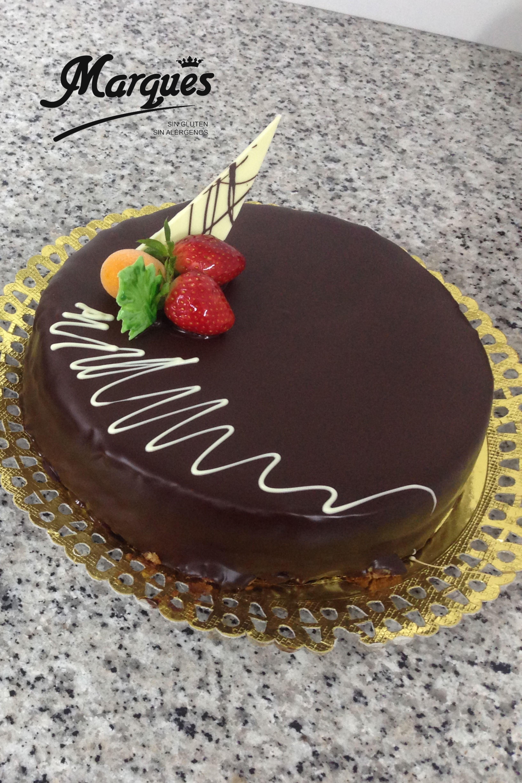 Tarta De Bizcocho Con Chocolate Chocolate Bolo