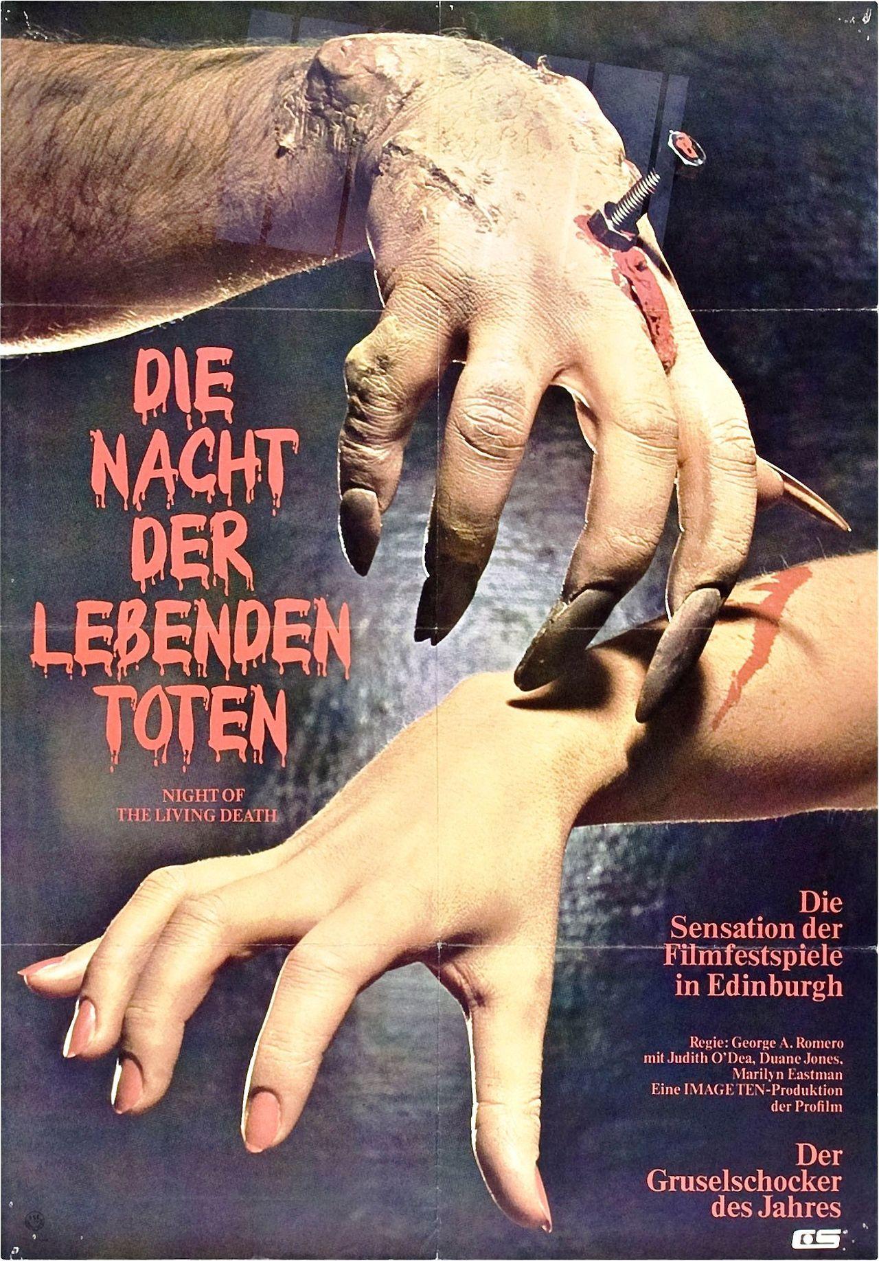 Die Nacht Der Lebenden Toten Zombie Movies All Horror Movies Old Film Posters