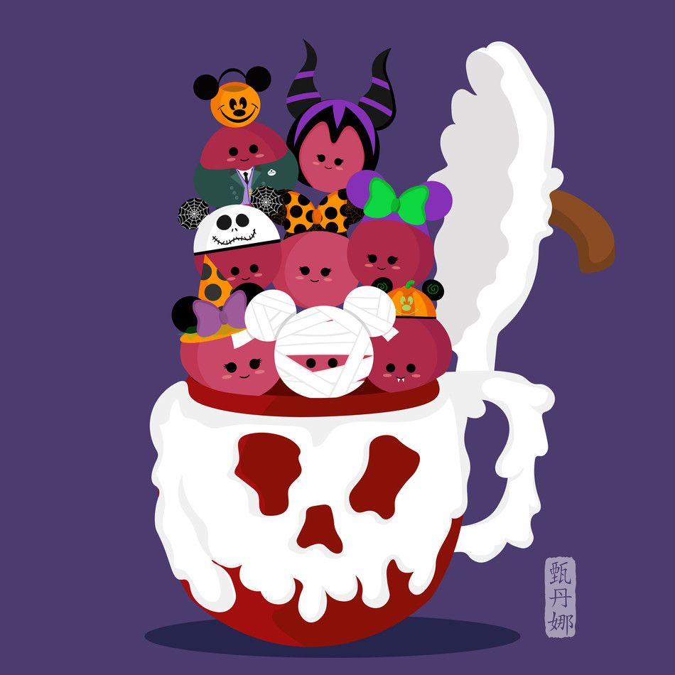 Inspired by my love for Disneyland and their delicious food. This is part of my Disneyland Food Series - Halloween Version. #disneylandfood