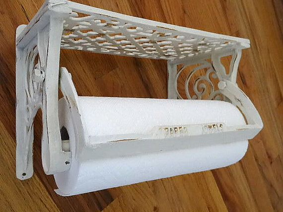 Wrought Iron Paper Towel Holder And