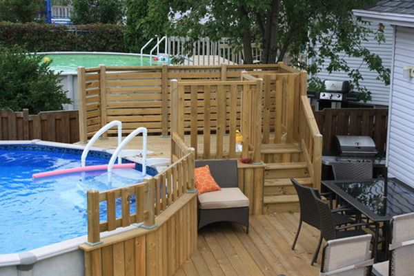 Small Patio Deck Design With A Pool | Yard, Patio, & Garage