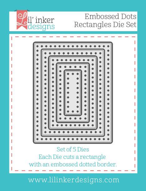 Embossed Dots Rectangles Dies