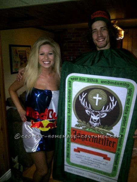 Coolest Jager Bomb Couple Halloween Costume... This website is the Pinterest of costumes  sc 1 st  Pinterest & Coolest Jager Bomb Couple Halloween Costume | Coolest Homemade ...