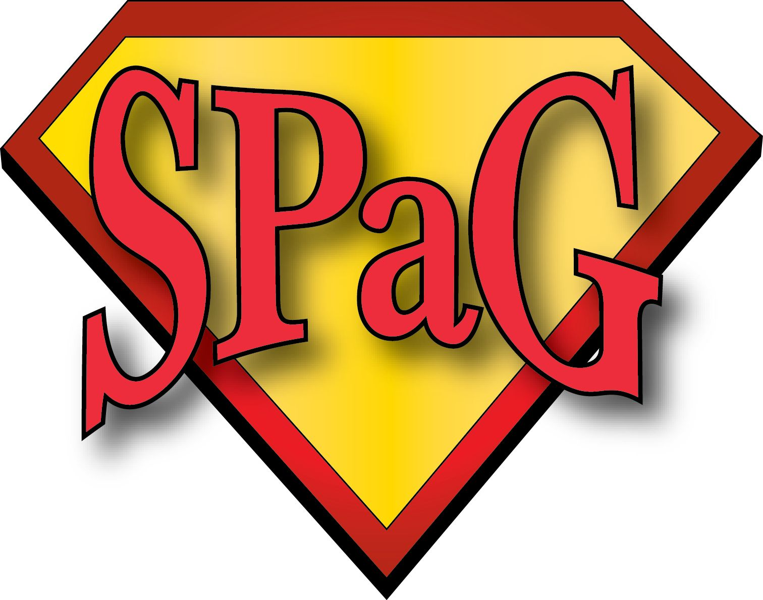 SPaGman logo - using on bookmarks, placemats & displays to try and ...