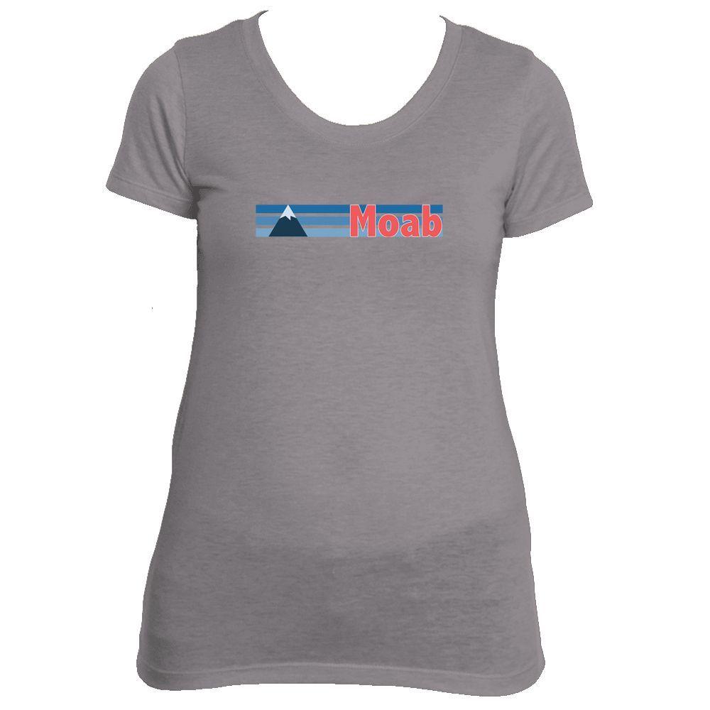 Moab, Utah Vintage Mountain - Women's Tri-Blend T-Shirt