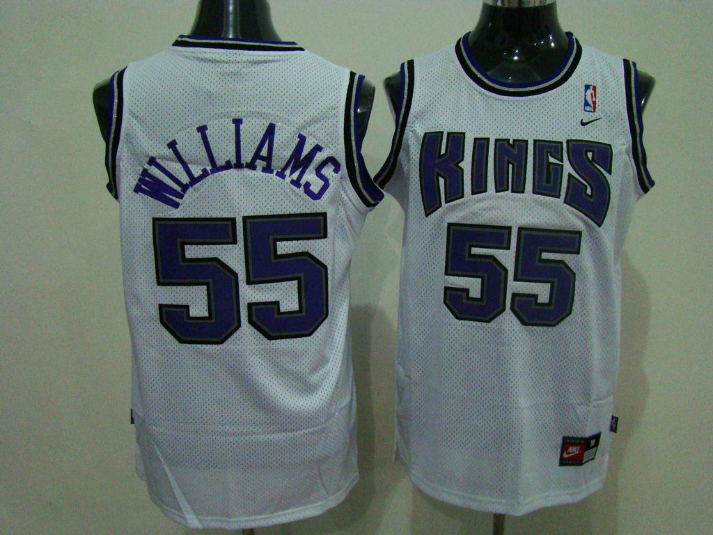 kings 55 jason williams embroidered white nba jersey only 20.50usd