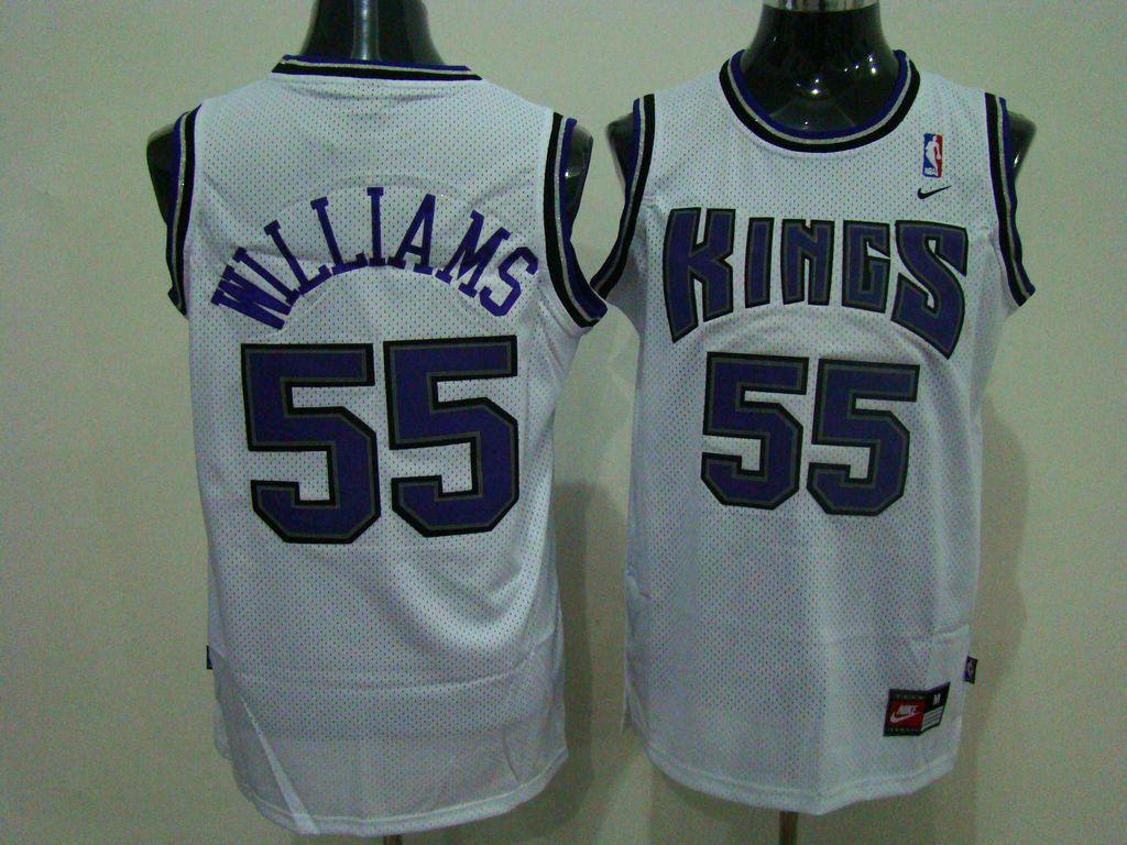 wholesale dealer 50818 c1e5b Kings #55 Jason Williams Stitched White NBA Jersey ...