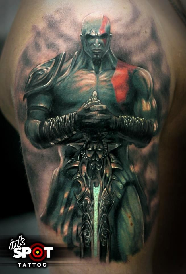 Kratos God Of War Tattoo Kratos God Of War War Tattoo