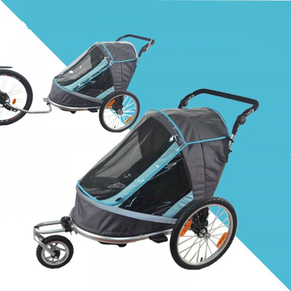 Fold Bicycle Trailer, Children Jogging Stroller, Combo 2