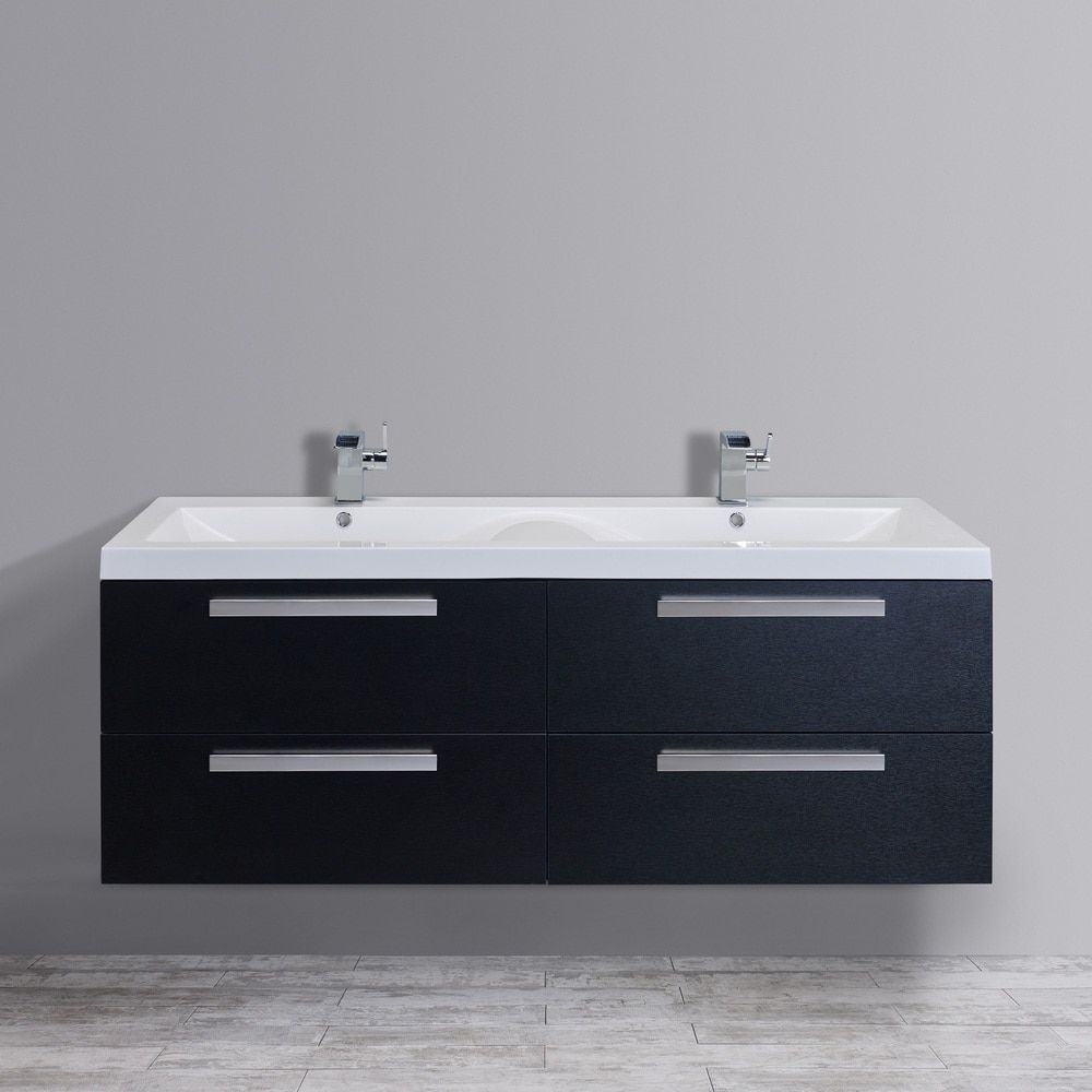 Eviva Surf 57 In. Double Sink Bathroom Vanity Set   Modern By Design And  Full Of Convenient Features, The Eviva Surf 57 In. Double Sink Bathroom  Vanity Set ...