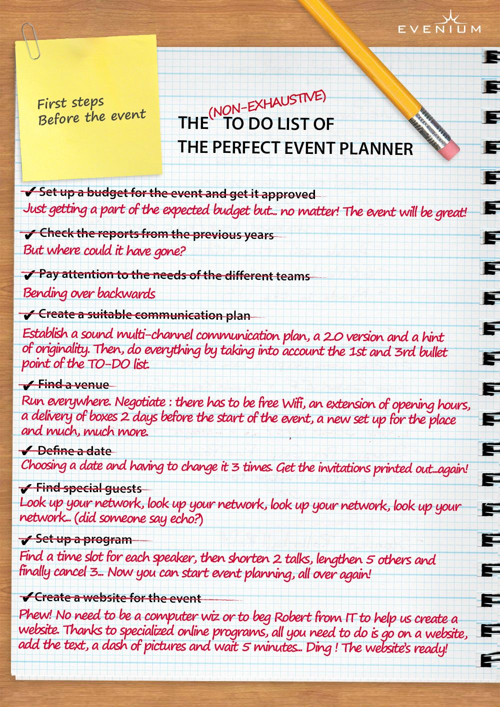 discover the to do list of the perfect event planner event