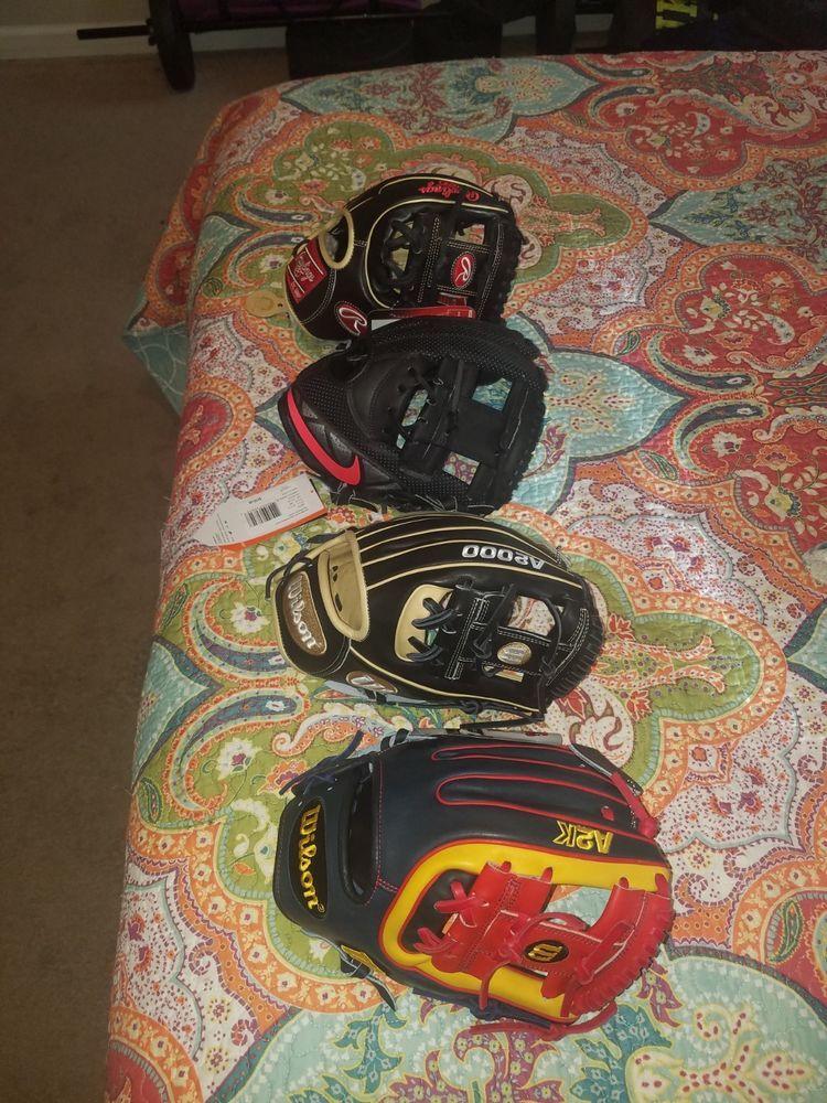 eBay  Sponsored Baseball Gloves Rawlings Pro Preferred Wilson a2k and a2000 Nike  MVP Select 99540469216