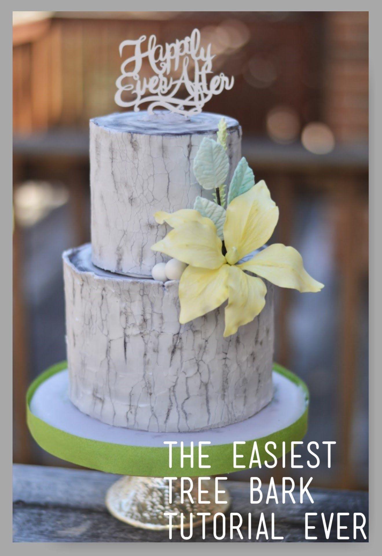 Tree Bark Tutorial How To Videos All Abt Baking Pinterest - Wedding Cake Tree Bark