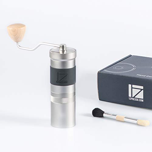1zpresso Manual Coffee Grinder Jx Pro Series Light Gray 48mm Stainless Steel Burr In 2020 Manual Coffee Grinder Coffee Grinder Coffee