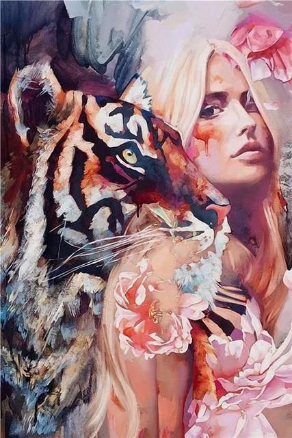 Photo of Figure Animal Posters and Prints Nordic Canvas Art Painting Home Decor Wall Art Picture Girl Lady Bedroom Modern Decor Painting – 60x80cm no frame / B