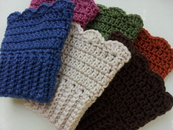 Crochet Boot Cuff Pattern Free Crochet Pattern Scalloped Boot