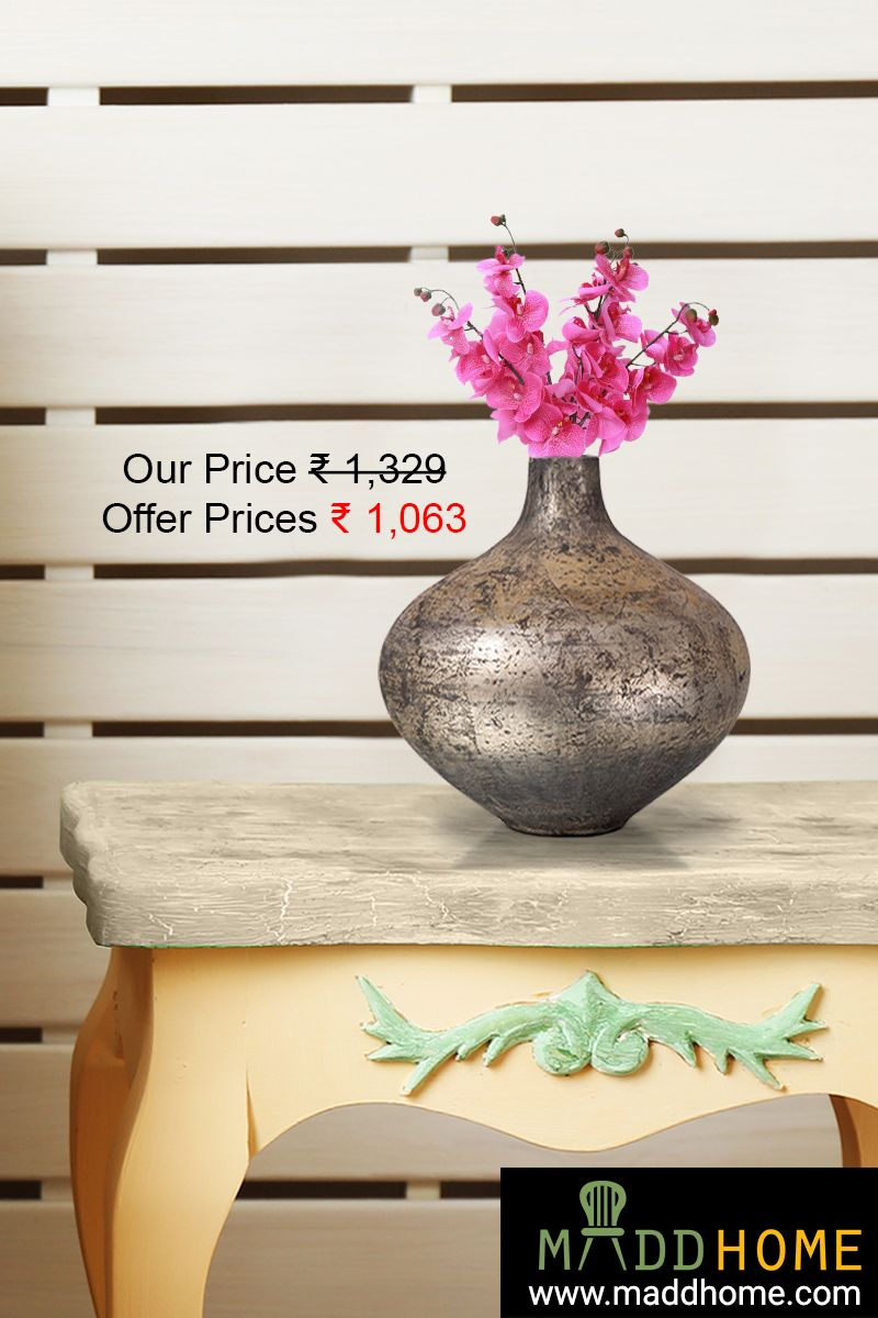 Bring home this #antique gold vase to give a dignified aura to your home.   #Home #Homedecor #Maddhome #flowerpot