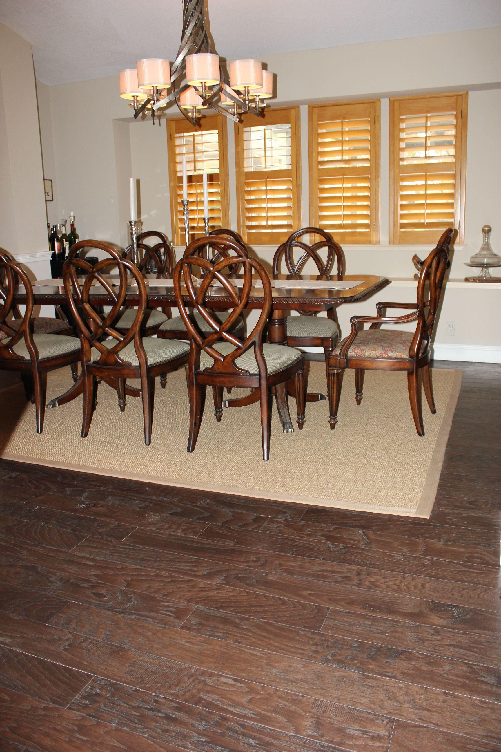 Shaw Nottoway Hickory Hardwood, Color: Weathered Saddle installed by ...