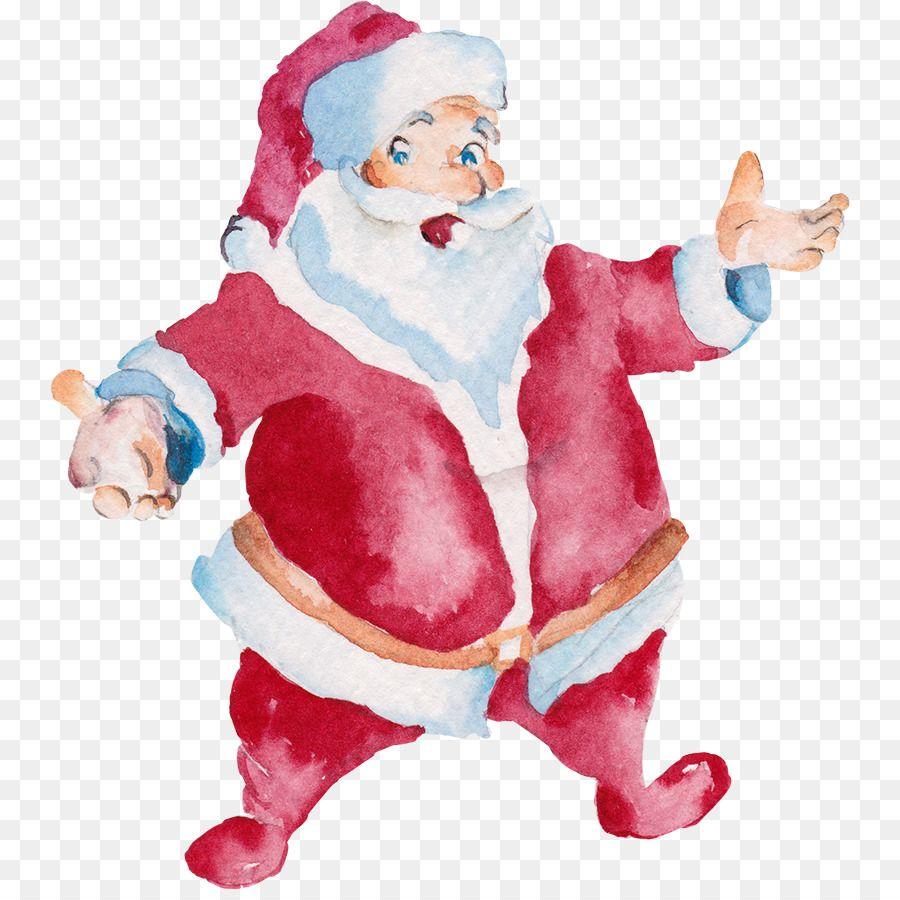 067fd4d98e2c0 Santa Claus Christmas Watercolor painting - Hand-painted Santa Claus ...