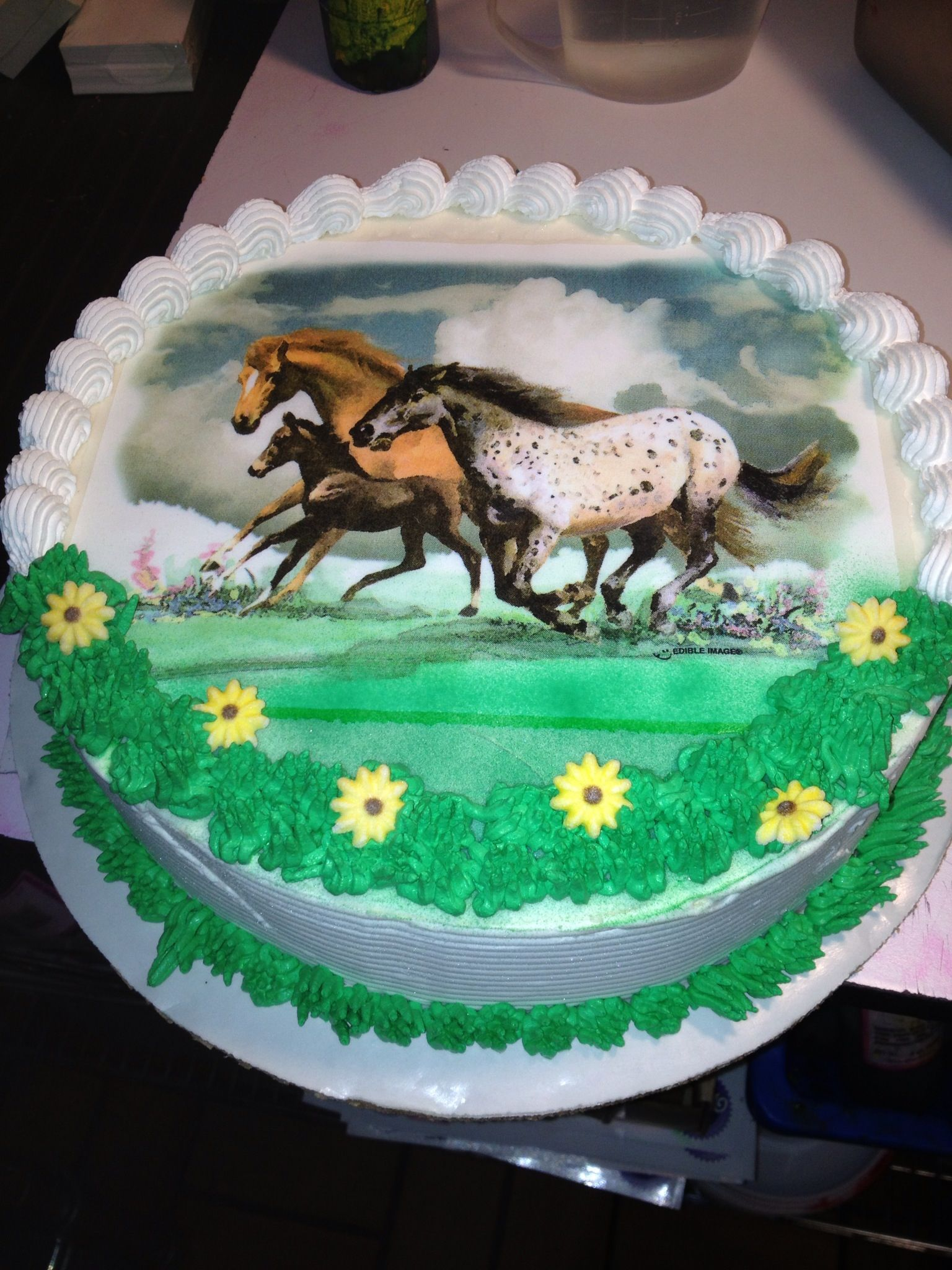 Marvelous Dqs Cakes Dairy Queen Wild Horses Horse Birthday Cake Funny Birthday Cards Online Fluifree Goldxyz