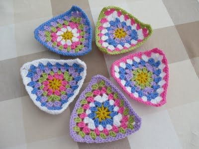 Cute triangle granny crochet bunting. Beautiful Bunting Baby ...