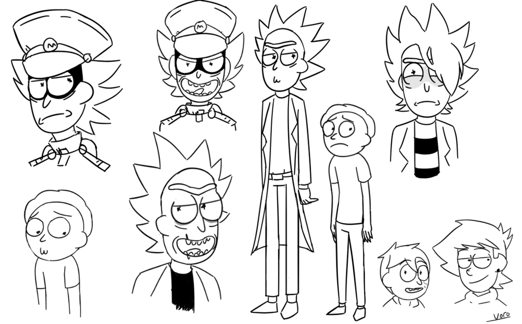 Rick N Morty Style Doodles by