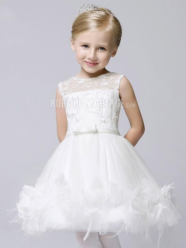 robe de fille pour mariage appliques en tulle robe2010754 robe d 39 enfant. Black Bedroom Furniture Sets. Home Design Ideas