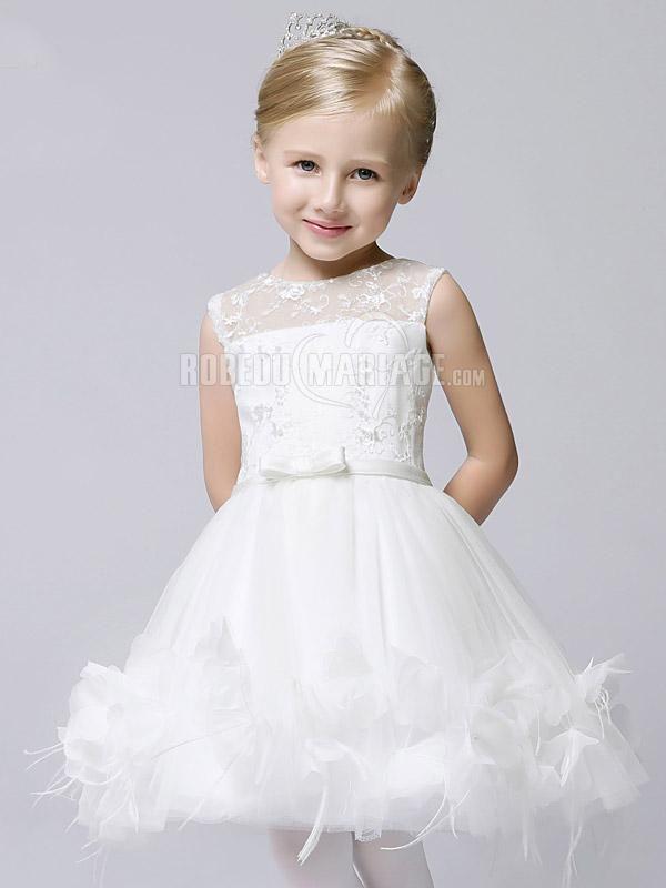 a70951063bd7a Robe de fille pour mariage appliques en tulle   ROBE2010754  -  robedumariage.com