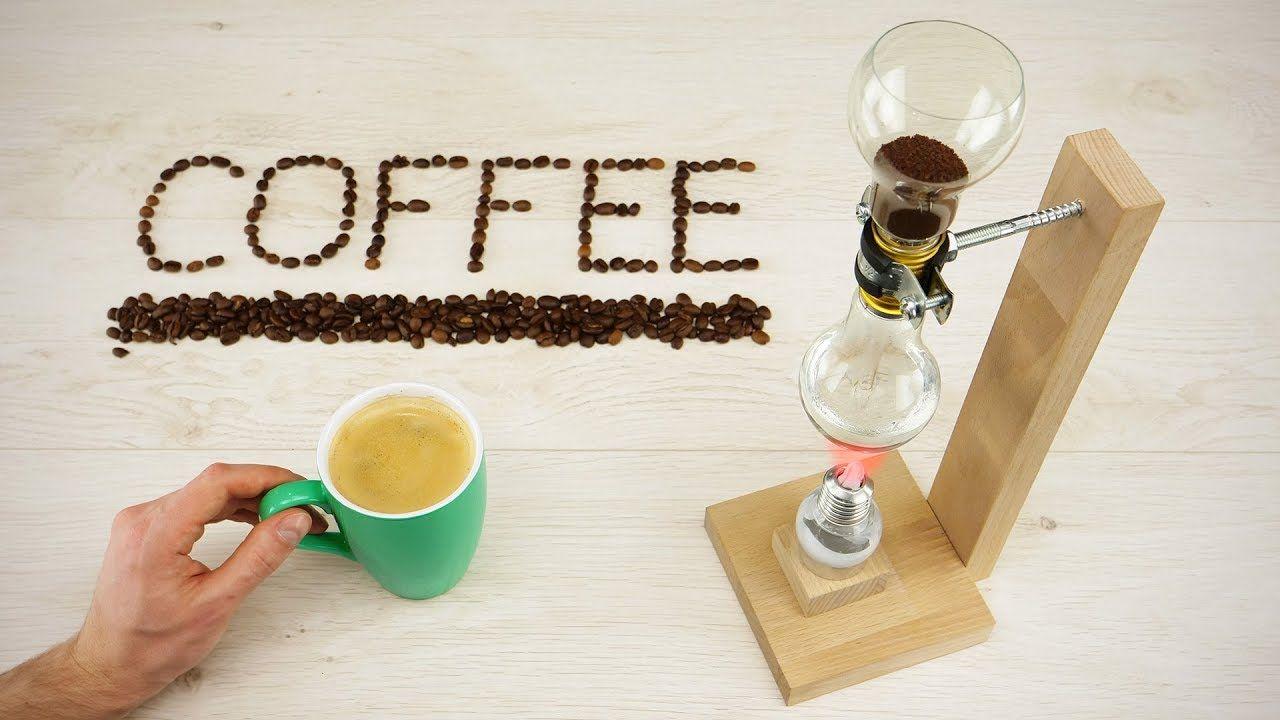 DIY Vacuum Coffee Maker out of Light Bulbs Kaffemaschine