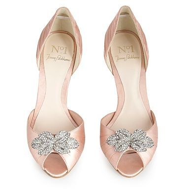 d7a2e69a5836 Jenny Packham shoes. I would like them better in a pale blue or sparkly  white.
