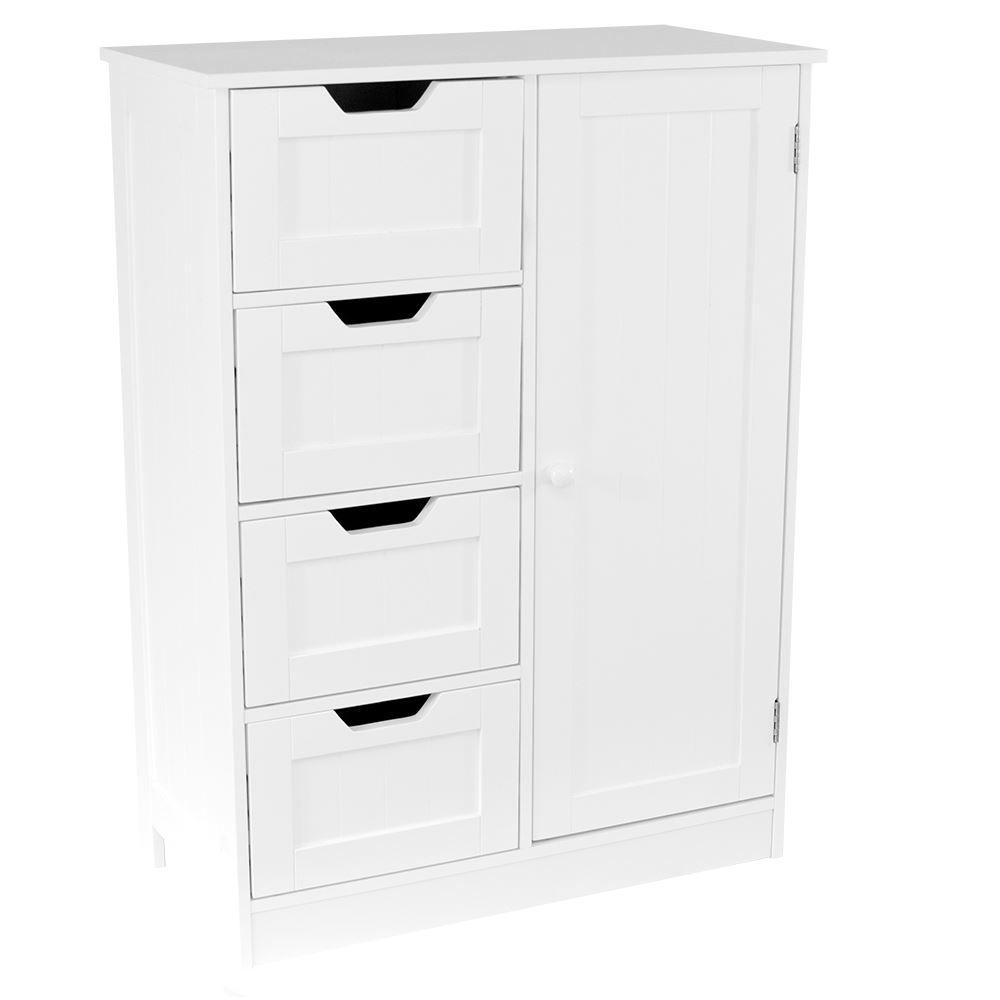 ef9a4d2918f1 Priano Free Standing Unit 4 Drawer 1 Door Bathroom Cabinet Cupboard Bath  Storage eBay
