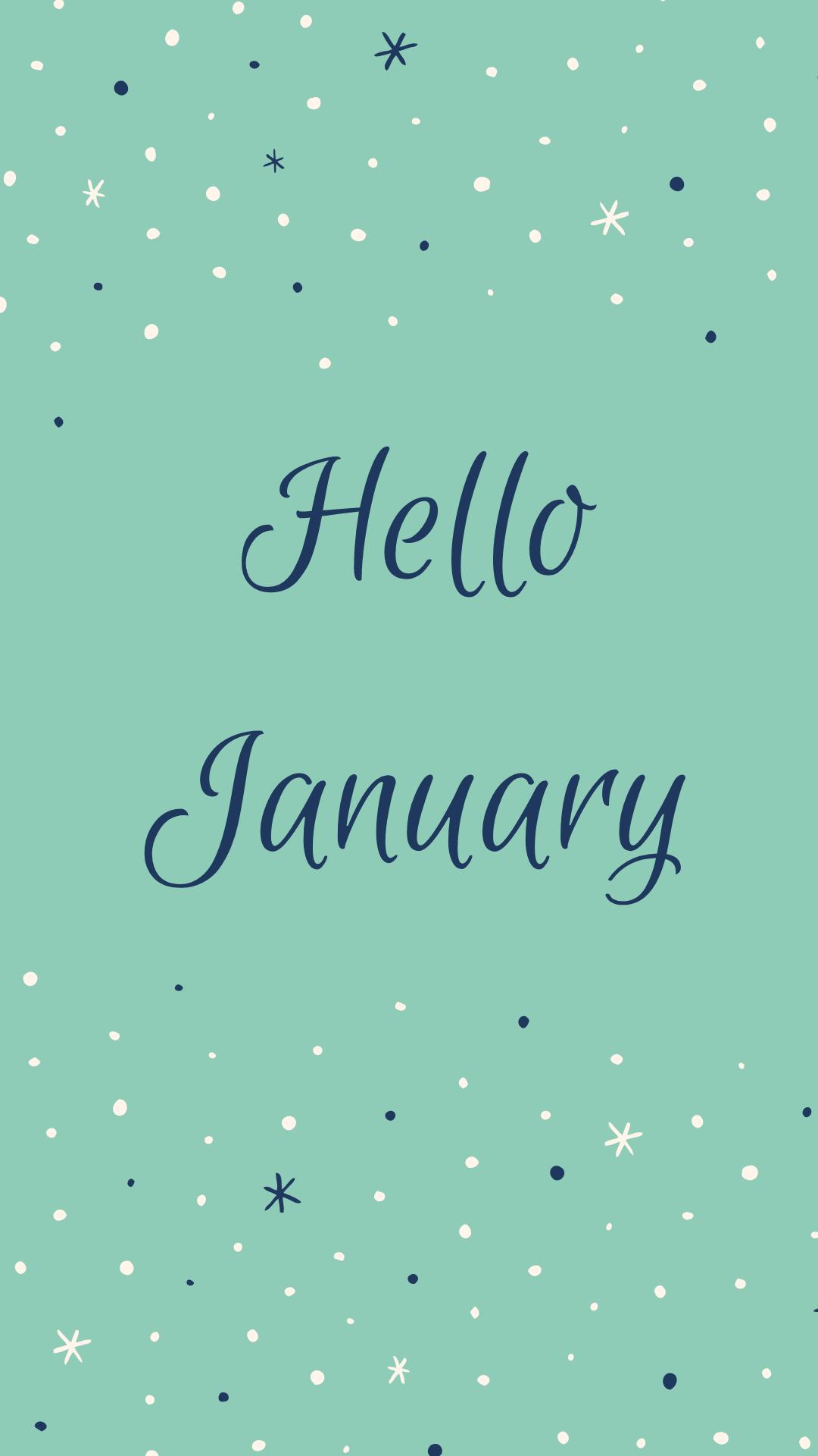 January 2019 Fond d'écran January wallpaper, Iphone