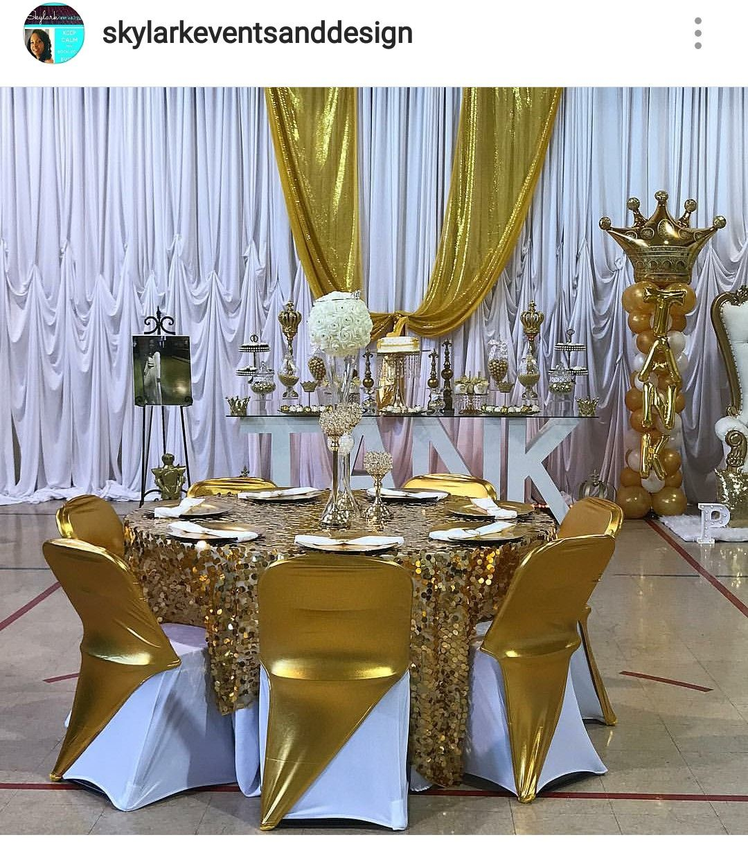 Royal Prom Send Off Table Setting And Decor Party Table