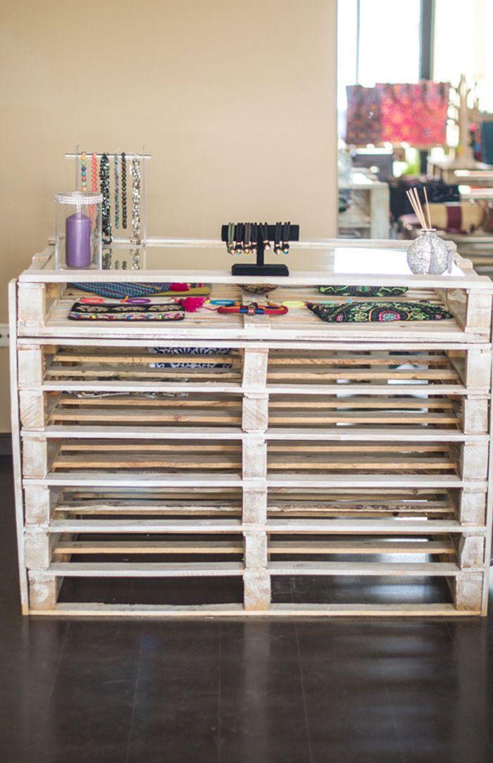 Mostrador palets i love pallets diy muebles con for Muebles para ropa