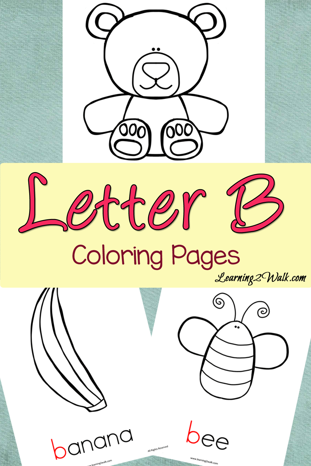 Preschool letter activities letter b colouring pages letter b