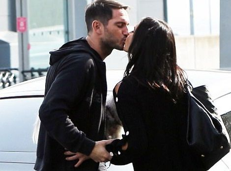 Football Legend Frank Lampard Shares Kiss With His Wife Christine As He Drops Her Off At The Airport (Photos)