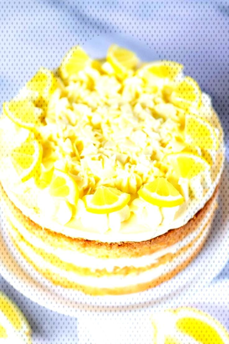 Lemon cream cake with lemon curd, Lemon cream cake with lemon curd,