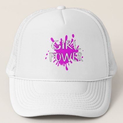 281842cb964 Girl Power Feminist Attitude Confidence Quote Trucker Hat - accessories  accessory gift idea stylish unique custom