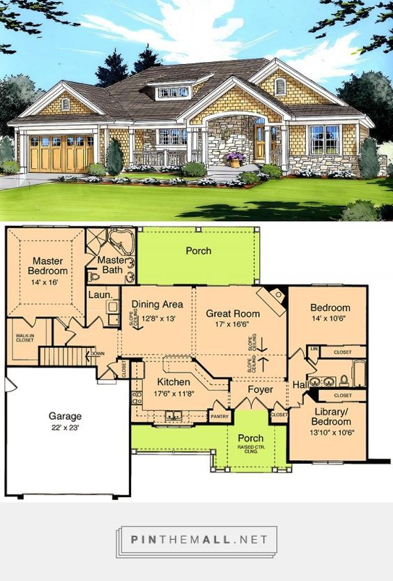Plan 39066st Craftsman Ranch Design New House Plans Dream House Plans Craftsman Ranch