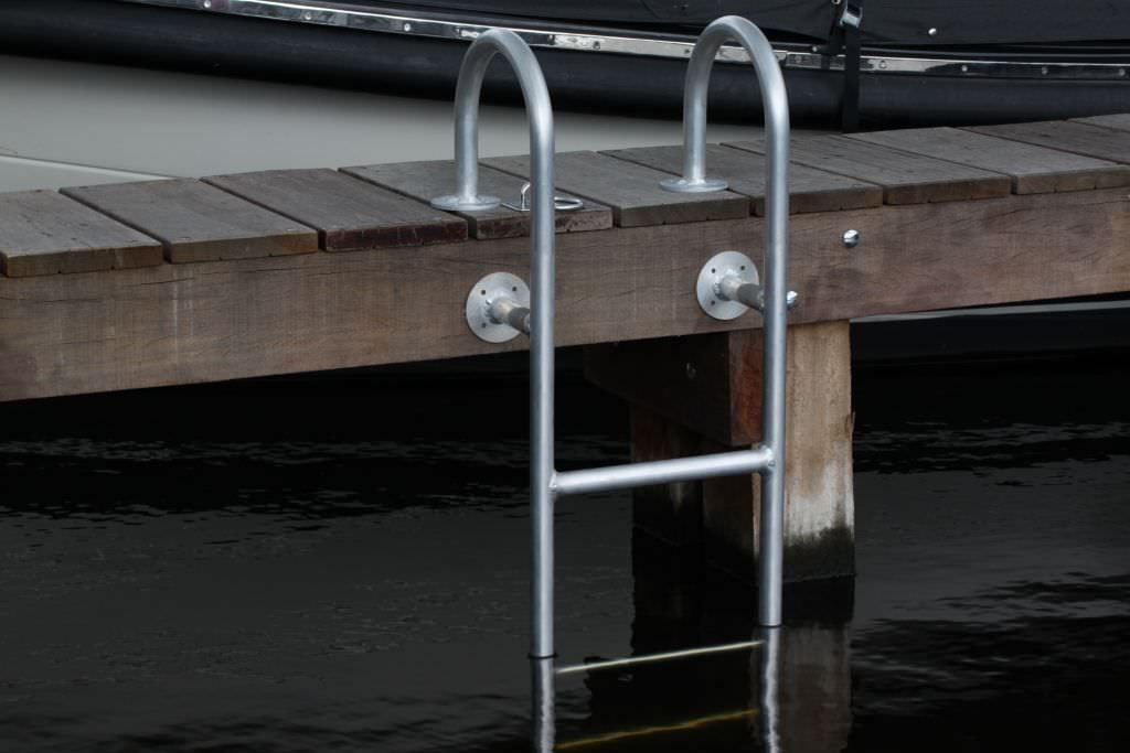 Dock Ladder Fixed Swim Aluminum Zwemtrap 4 Treden