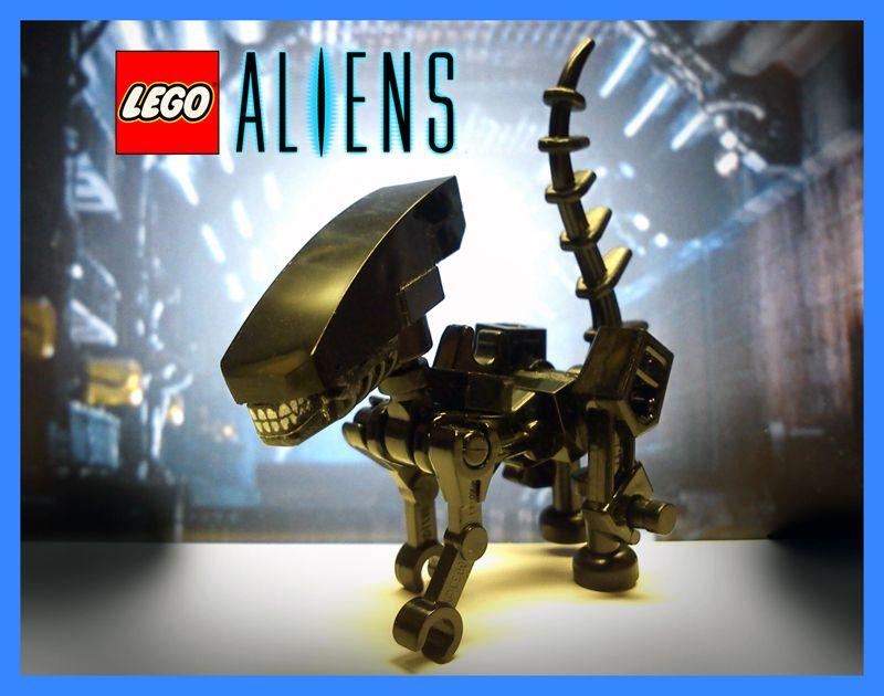 Alien Xenomorph and FacehuggerAll parts LEGO