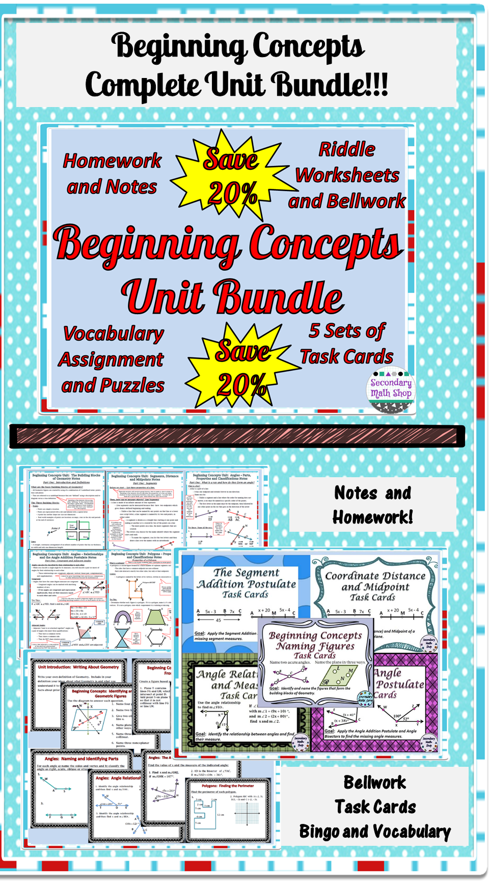 Workbooks vocabulary building worksheets high school : Beginning Concepts - Unit 1: Building Block of Geometry Unit ...