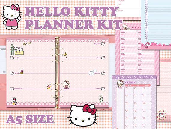 Hello Kitty printable planner kit - A5 size
