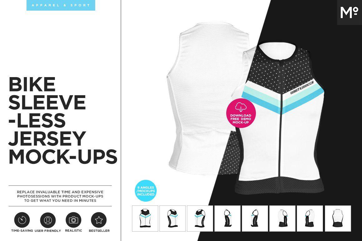 Download Bike Sleeveless Jersey Mock Ups Set Mockup Free Psd Mockup Free Psd Mockups Templates