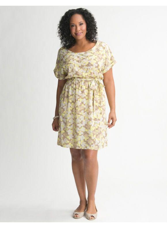 9428f48320 Lane Bryant Fl Tee Dress Women S Plus Size Humus 26 28