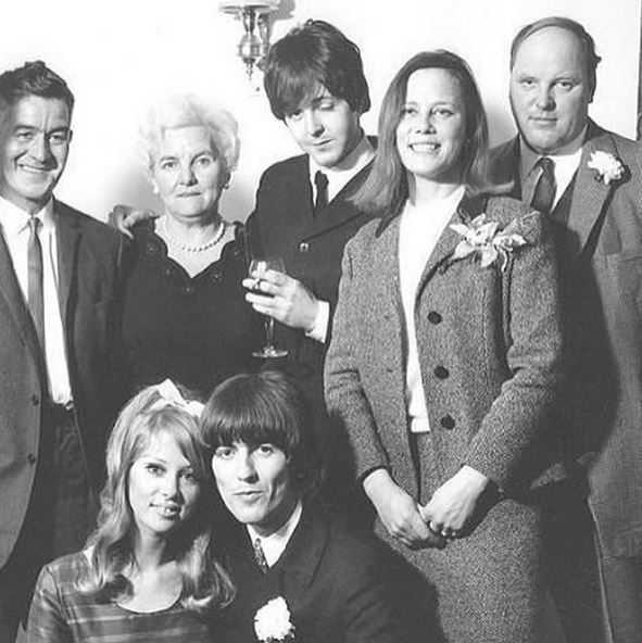 Paul McCartney At George Harrison And Patti Boyds Wedding In 1966 He Is Very Drunk