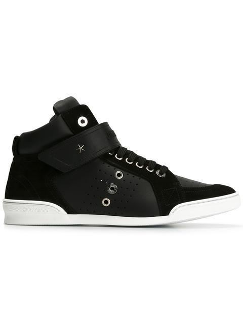 JIMMY CHOO Lewis hi-top sneakers. #jimmychoo #shoes #sneakers