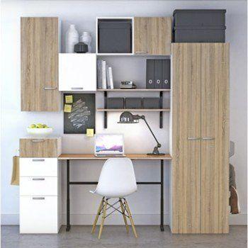 Bureau Spaceo Home Decor Chene Idee Deco Studio Armoire D Angle Mobilier De Salon