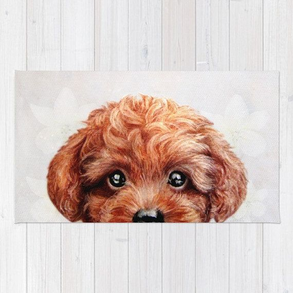 Toy Poodle Rug Original Painting And Design By Miartprintcreation